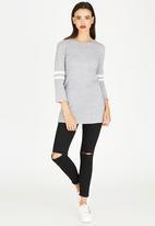 c(inch) - Colour Block Tunic Grey
