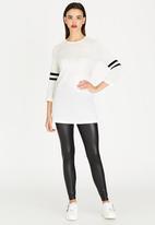 c(inch) - Colour Block Tunic Black and White