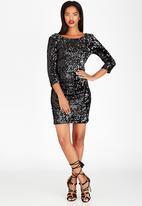 ONLY - Deep Back Sequin Dress Black