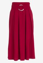 STYLE REPUBLIC - Volume Fit and Flare Skirt Burgundy