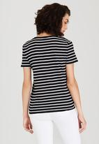 Levi's® - Striped Perfect Pocket Tee Black and White