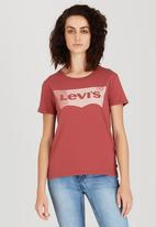 Levi's® - Perfect Logo Tee Dark Red