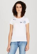Levi's® - Slim Fit Crew Neck Tee with Embroidery White