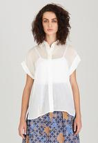 Pengelly - Button-through Shirt White