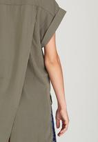 Pengelly - Button-through Shirt Khaki Green