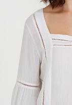 edit - Gypsy Blouse with Ladder Lace Detail White