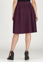 edit - Fit and Flare Skirt Dark Purple
