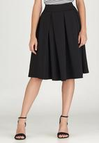 edit - Fit and Flare Skirt Black