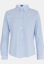 STYLE REPUBLIC - Pearl Detail Shirt Blue