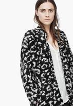 MANGO - Boucle Mohair-blend Coat Black