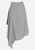 STYLE REPUBLIC - Asymmetrical Skirt Black