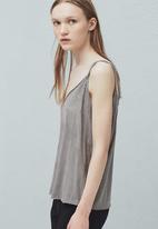 MANGO - Textured Cami Pale Grey