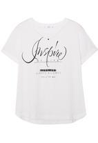MANGO - Printed T-shirt White