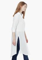 MANGO - Longer Length Shirt White