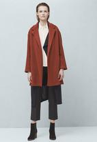 MANGO - Cocoon Coat Orange
