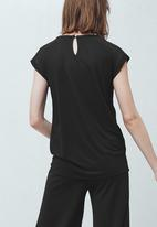 MANGO - Decorative Trim Top Black