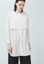 MANGO - Longer-length Shirt White