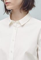MANGO - Cotton Shirt White