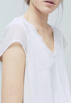 MANGO - Soft Panel T-shirt Milk