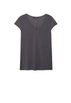 MANGO - Soft Panel T-shirt Dark Grey