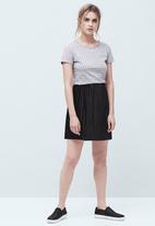 MANGO - Logo Cotton T-shirt Mid Grey