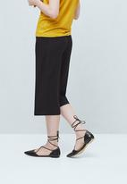 MANGO - Pointed Toe Flats Black