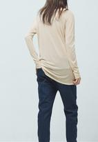 MANGO - Fine Knit T-shirt Milk