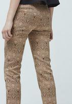 MANGO - Jacquard Trousers Multi-colour