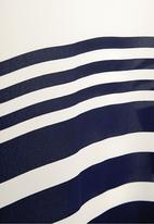 Next - Blue striped woven vest Navy