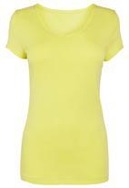 Next - Round neck shirt in Citrus Yellow