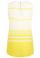 Next - Striped Woven Vest Yellow