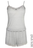 Next - Striped playsuit Grey