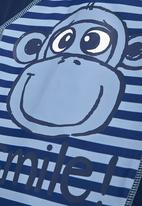 Next - Monkey Print Sunsafe Suit Mid Blue