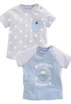 Next - Monkey T-Shirts 2-Pack Pale Blue