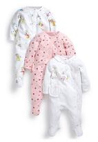 Next - My First Wardrobe Sketchy Animal Sleepsuits 3-Pack Multi-Colour