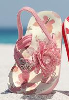 Next - Butterfly Corsage Flip-Flops Pale Pink