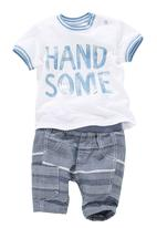 Next - Handsome T-Shirt And Trouser Set Mid Blue