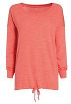 Next - Bubble hem sweater Coral