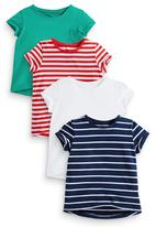 Next - Stripe Tops 4-Pack Multi-Colour