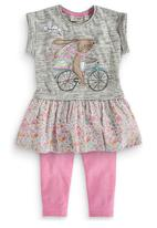 Next - Bunny Embellished Tunic And Legging Set Multi-Colour