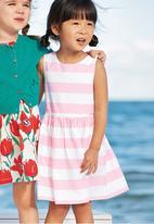Next - Striped Dress Pale Pink