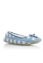 Next - Spot Ballerina Slippers Pale Blue