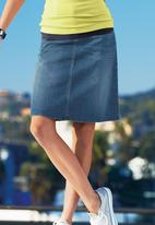 Next - Pale wash denim A line skirt mid Blue