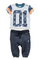 Next - 01 Star T-Shirt And Joggers Set Multi-Colour