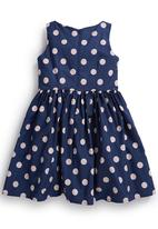 Next - Spotted Prom Dress Navy