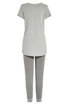 Next - Printed legging pyjama set pale Grey