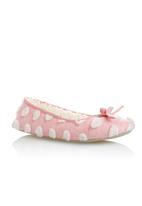 Next - Spot Ballerina Slippers Pale Pink