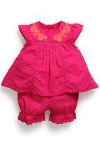 Next - Pink Blouse And Shorts Set Mid Pink