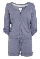 Next - Chambray pointelle playsuit mid Grey