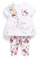 Next - Bunny Top And All Over Print Leggings Set Multi-Colour